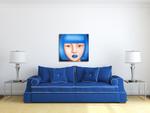 Blue Damsel on the wall