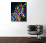 Zebra on the wall