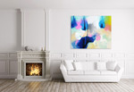 Blue Flame on the wall