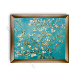 Almond Blossom Modern Flat Gold Frame