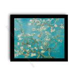 Almond Blossom Modern flat black frame