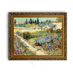 Garden at  Arles Gold Ornate Outer Frame