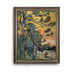Pine Trees Ornate Silver Frame