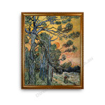 Pine Trees Gold A1 Frame