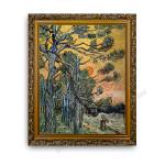 Pine Trees Gold Ornate Outer Frame