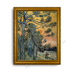Pine Trees Gold Classic Frame