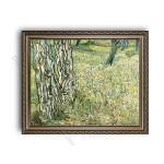 Tree Trunks and Grass Ornate Silver Frame