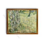 Tree Trunks and Grass Gold A1 Frame