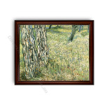 Tree Trunks and Grass Dark Brown with Gold Inner