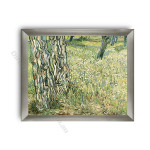 Tree Trunks and Grass Modern Flat Silver