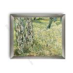 Tree Trunks and Grass Modern Flat Silver