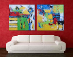 Brooke Howie | Green Yellow Red II on the wall