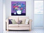 Brooke Howie | Purple Floral on the wall