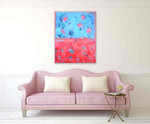 Brooke Howie | Red Blue Abstract on the wall