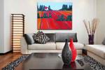 Brooke Howie | Red Fields on the wall