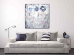 Brooke Howie | White Abstract with Circles on the wall