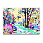 Colored Winter Art Print