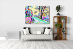 Colored Winter Art Print on the wall