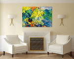Colorful Leaves Wall Art Print on the wall