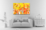 Colorful Oil Painting Canvas Art Print on the wall