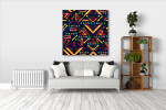 Colorful Ornament Canvas Print on the wall