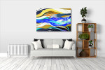 Colorful Streaks Art Print on the wall