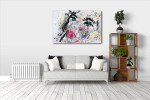 Dirty Portrait Canvas Art Print on the wall