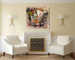Distorted Time Canvas Art Print on the wall
