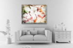 Elegant Colored Abstract Art Print on the wall