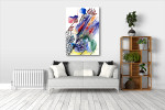 Fabric Pattern Canvas Art Print on the wall