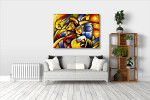 Face Abstract Art Print on the wall