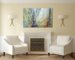 Forest Abstract Canvas Print on the wall