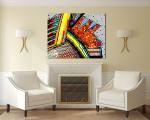 Lizard Modern Art Print on the wall