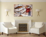 Math Code Canvas Art Print on the wall
