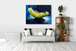 Melon Fruit Abstract Art Print on the wall