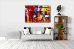 Mixed Media Canvas Art Print on the wall
