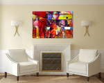 Mixed Media Canvas Art Print on the wall