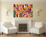 Modern Leaves Pattern Art Print on the wall