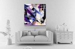 Paper Craft Abstract Art Print on the wall