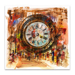 People and Time Canvas Art Print
