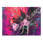 Playing Guitar Canvas Print
