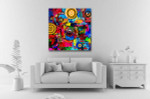Round Colors Canvas Art Print on the wall