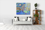 Seattle Downtown Canvas Print on the wall