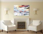 Sky & Ocean Art Print on the wall