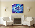 Space Landscape Canvas Art Print on the wall