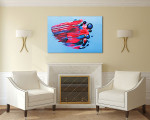 Sparkling Canvas Art Print on the wall