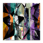 Splashes And Triangles Canvas Art Print
