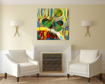 Sprout In A Pot Canvas Print on the wall