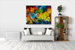 Stained Glass Canvas Print on the wall