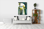 Watercolor Portrait Art Print on the wall